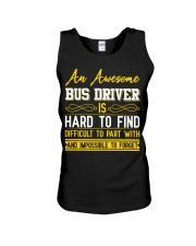 AN AWESOME BUS DRIVER  Unisex Tank thumbnail