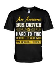 AN AWESOME BUS DRIVER  V-Neck T-Shirt thumbnail