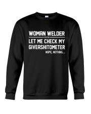 WELDER WOMAN GIVEASHITOMETER Crewneck Sweatshirt thumbnail