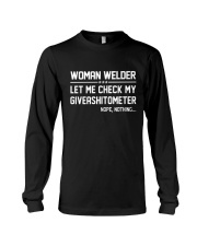 WELDER WOMAN GIVEASHITOMETER Long Sleeve Tee thumbnail