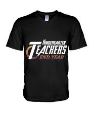 KINDERGARTEN END YEAR V-Neck T-Shirt thumbnail
