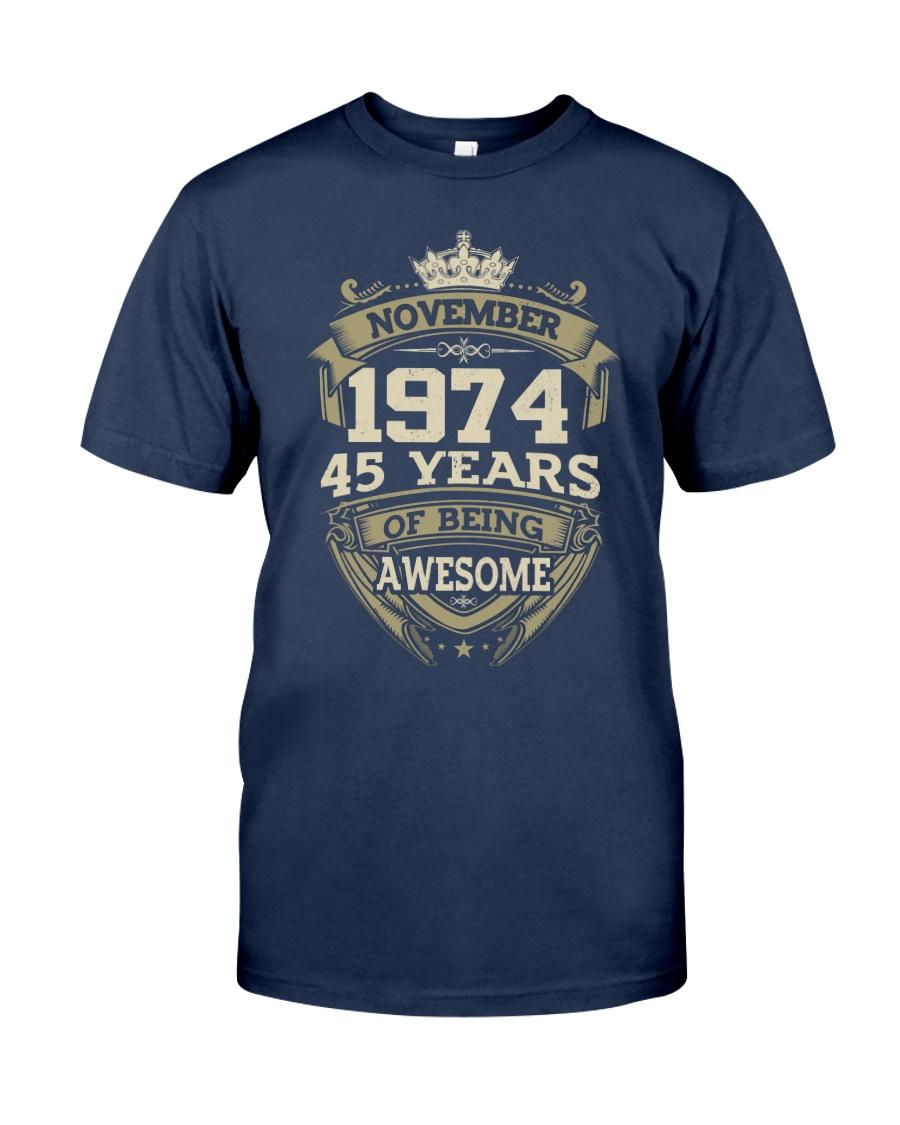 APPY BIRTHDAY NOVEMBER 1974 Classic T-Shirt
