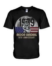 MOON LANDING ANNIVERSARY V-Neck T-Shirt thumbnail