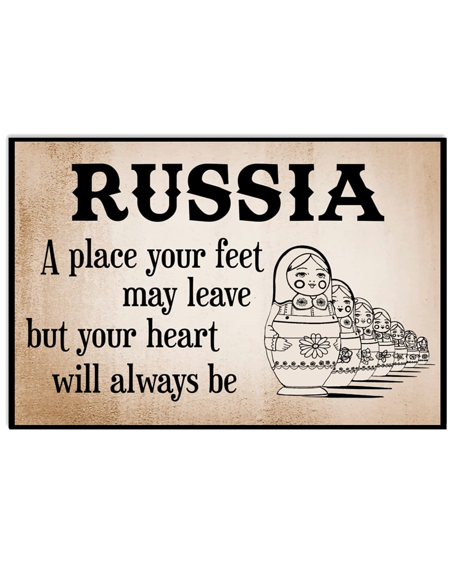 WE LOVE RUSSIA 17x11 Poster