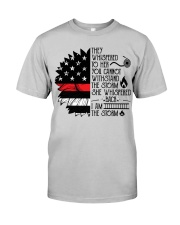FIREFIGHTER IS THE STORM Classic T-Shirt front