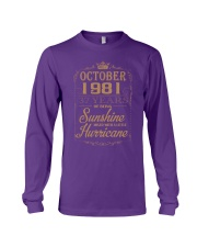 OCTOBER 1981 OF BEING SUNSHINE AND HURRICANE Long Sleeve Tee thumbnail