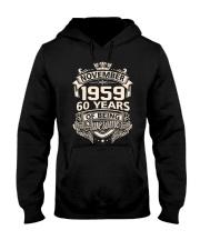Birthday Gift November 1959 Hooded Sweatshirt thumbnail