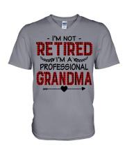 I'M NOT RETIRED  V-Neck T-Shirt thumbnail