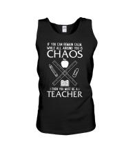 TEACHER CAN REMAIN CALM Unisex Tank thumbnail