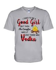 I TRIED TO BE A GOOD GIRL V-Neck T-Shirt thumbnail