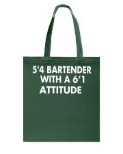 5'4 BARTENDER Tote Bag thumbnail
