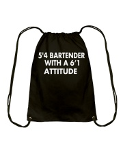 5'4 BARTENDER Drawstring Bag thumbnail