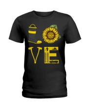LOVE FIREFIGHTER Ladies T-Shirt thumbnail