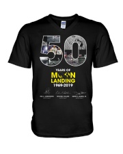 MOON LANDING 1969-2019 V-Neck T-Shirt thumbnail