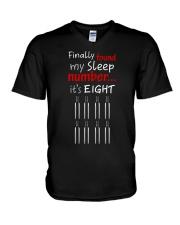 MY SLEEP NUMBER 8 BOTTLES V-Neck T-Shirt thumbnail