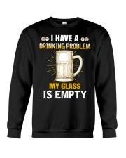 MY GLASS IS EMPTY Crewneck Sweatshirt thumbnail