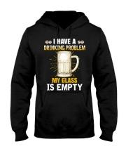 MY GLASS IS EMPTY Hooded Sweatshirt thumbnail