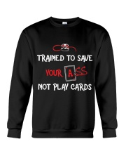 TRAIN TO SAVE NOT PLAY CARDS Crewneck Sweatshirt thumbnail