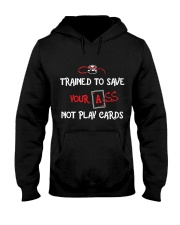 TRAIN TO SAVE NOT PLAY CARDS Hooded Sweatshirt thumbnail