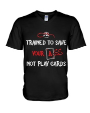 TRAIN TO SAVE NOT PLAY CARDS V-Neck T-Shirt thumbnail