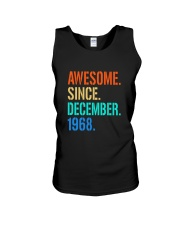 AWESOME SINCE DECEMBER 1968 Unisex Tank thumbnail