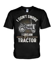 I DREAM I'M A TRACTOR V-Neck T-Shirt thumbnail