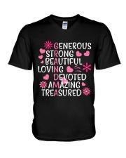 AMAZING GRANDMA V-Neck T-Shirt thumbnail