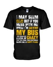 DON'T MESS WITH BUS DRIVER V-Neck T-Shirt thumbnail