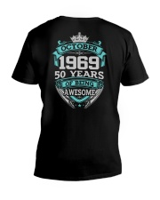 HAPPY BIRTHDAY OCTOBER 1969 V-Neck T-Shirt thumbnail