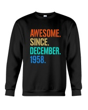 AWESOME SINCE DECEMBER 1958 Crewneck Sweatshirt thumbnail