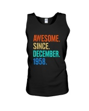 AWESOME SINCE DECEMBER 1958 Unisex Tank thumbnail