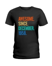 AWESOME SINCE DECEMBER 1958 Ladies T-Shirt thumbnail