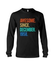 AWESOME SINCE DECEMBER 1958 Long Sleeve Tee thumbnail