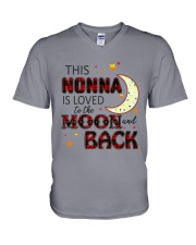 LOVE TO THE MOON AND BACK NONNA VERSION V-Neck T-Shirt thumbnail