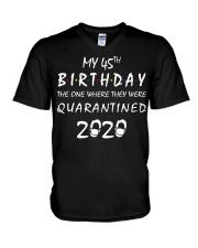 THE 45TH BIRTHDAY IN 2020 V-Neck T-Shirt thumbnail