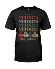 VINTAGE NOVEMBER 1968 Classic T-Shirt front