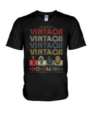 VINTAGE NOVEMBER 1968 V-Neck T-Shirt thumbnail
