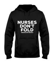 NURSES DON'T FOLD Hooded Sweatshirt thumbnail