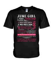 JUNE GIRL V-Neck T-Shirt thumbnail
