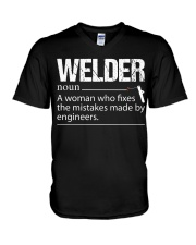 WELDERS FIX THE MISTAKES V-Neck T-Shirt thumbnail