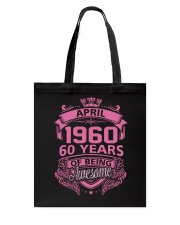 Happy Birthday April 1960 Tote Bag thumbnail