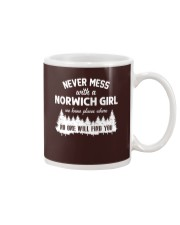 NEVER MESS WITH NORWICH GIRL Mug tile