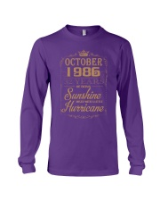OCTOBER 1986 OF BEING SUNSHINE AND HURRICANE Long Sleeve Tee thumbnail