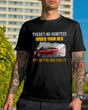 MONSTER IN THE DRIVEWAY MUSTANG Classic T-Shirt lifestyle-mens-crewneck-front-8