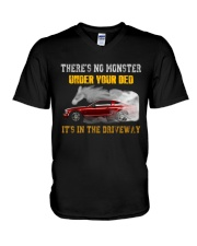 MONSTER IN THE DRIVEWAY MUSTANG V-Neck T-Shirt thumbnail