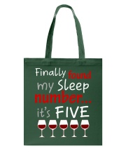 MY SLEEP NUMBER 5 CUPS Tote Bag thumbnail
