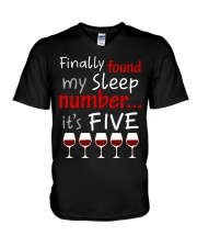 MY SLEEP NUMBER 5 CUPS V-Neck T-Shirt thumbnail