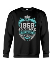 HAPPY BIRTHDAY April 1958 Crewneck Sweatshirt thumbnail
