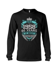 HAPPY BIRTHDAY April 1958 Long Sleeve Tee thumbnail