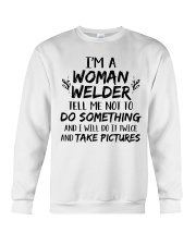 DO IT TWICE AND TAKE PICTURES Crewneck Sweatshirt tile